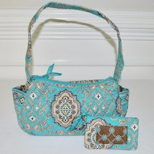 Vera Bradley Totally Turquoise Bag and ID